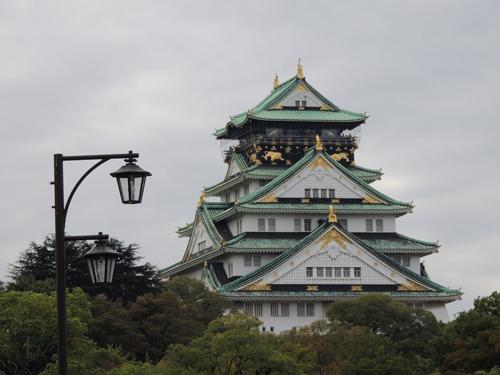 大阪城の画像レタッチ